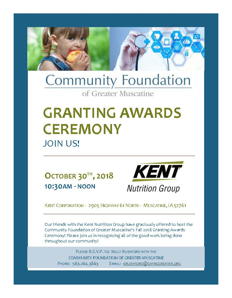 2018 Fall Grant Awards Ceremony Publication - The Community